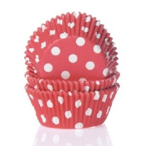 House of Marie Baking Cups Stip Rood