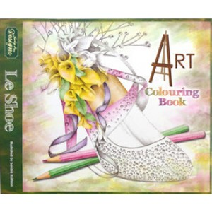 Katy Sue Designs - Art colouring book - Le Shoe