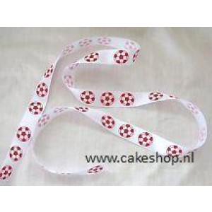 Lint 12mm voetbal Rood