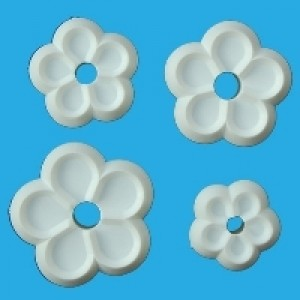 Orchard Products Five Petal Flower Cutter Set/4