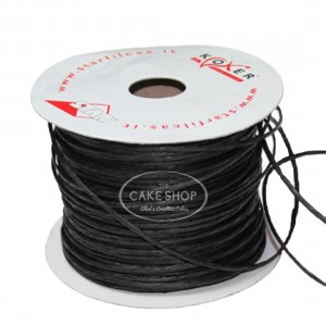 Paper covered wire Black