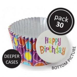 PME Bright Bubbles Decorative Foil Baking Cups Pk/30