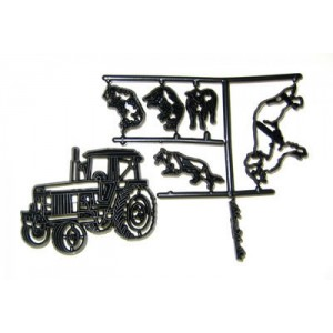 Patchwork Cutters Tractor, sheep & dog