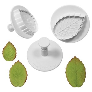 PME Veined Rose Leaf plunger cutter Set XL