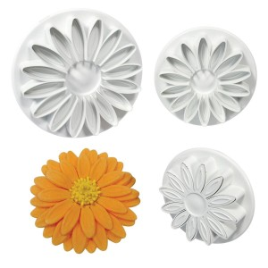 PME Veined Sunflower/Daisy/Gerbera Plunger Cutter set