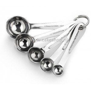 Tala stainless steel 5 piece measuring spoons -www.cakeshop.nl