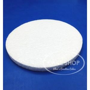 Styropor taart dummy Rond 15 cm - 1cm hoog