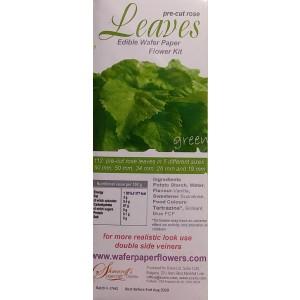 Wafer Paper Flowers: Pre-cut Rose Leaves