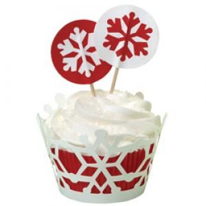 Wilton Christmas Cupcake Wraps 'n Pix