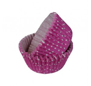 SK Dotty Cupcake Cases Hot Pink Pack of 36