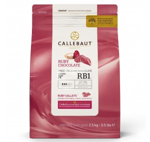 Callebaut Chocolade Callets -Ruby- 2,5 kg