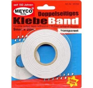 Meyco - dubbelzijdig tape - 9mm