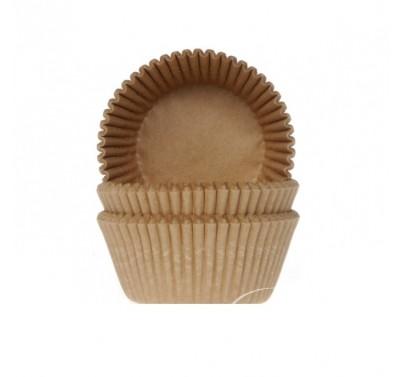 House of Marie Baking cups Kraft (ongebleekt)- pk/50