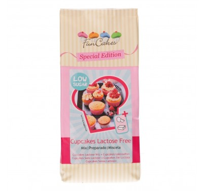 FunCakes Mix voor Cupcakes Lactose Vrij - Low Sugar 500g