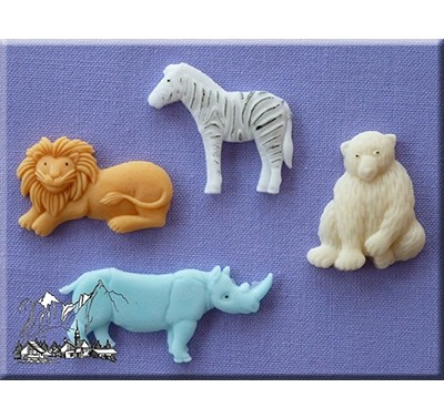 Alphabet Moulds - Wild Animals