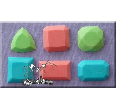 Alphabet Moulds - Gems 3
