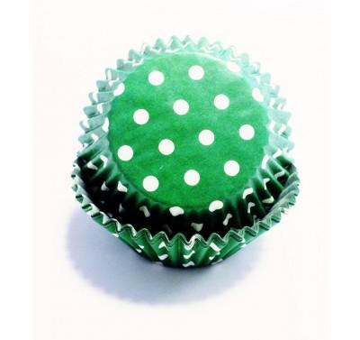 PME Green Polka Dots Standard Baking Cases Pk/60