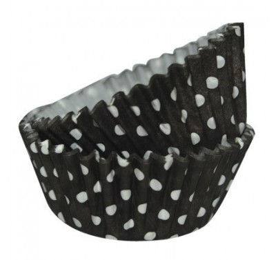 SK Dotty Cupcake Cases Black Pack of 36
