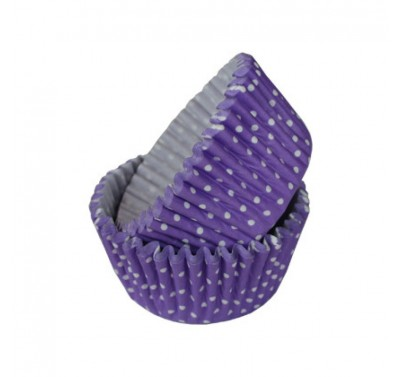 SK Dotty Cupcake Cases Mauve Purple Pack of 36
