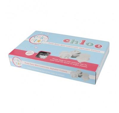 Cake Star Push Easy Mini Cutters - Lowercase Alphabet Set 26 Pc