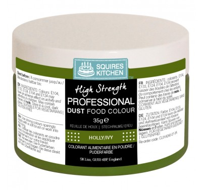 SK Professional Food Colour Dust Holly/Ivy Green 35g