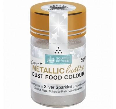 SK Designer Metallic Lustre Dust Silver Sparkles - 5g
