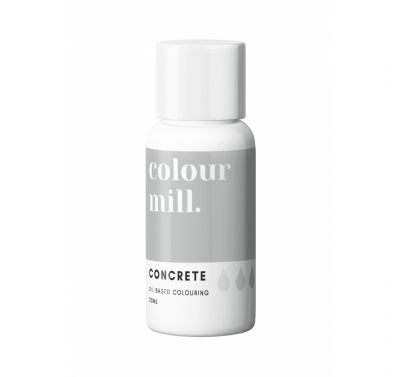Colour Mill Oil Based Food Colouring 20ml - Concrete Grey