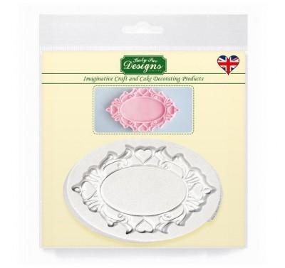 Katy Sue Designs Decorative Plaque Oval Hearts - DEMO model