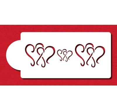 Designer Stencils Dancing Hearts