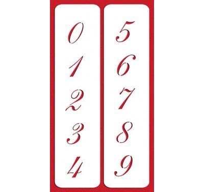 "Designer Stencils 2.25"" Script Numbers Cake Stencil"