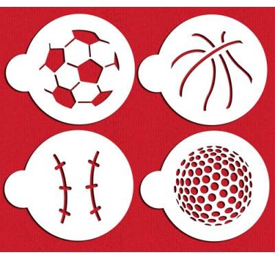 Designer Stencils Large Sports Ball Cookie