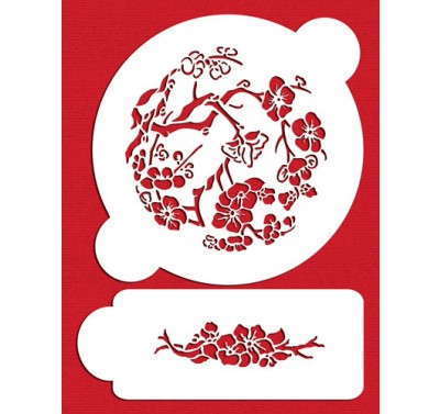 Designer Stencils Japanese Dogwood Set