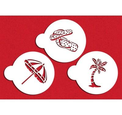 Designer Stencils Beach Cookies