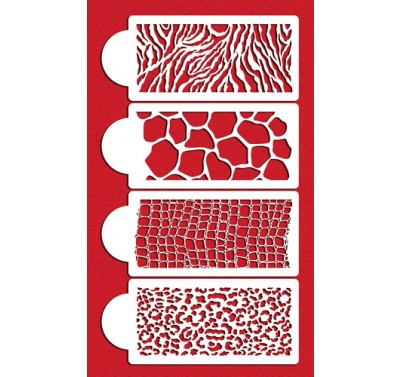 Designer Stencils Animal Skin Set