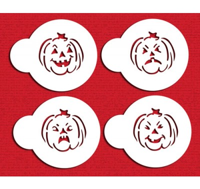 Designer Stencils Mini Halloween Jack O Lantern Faces