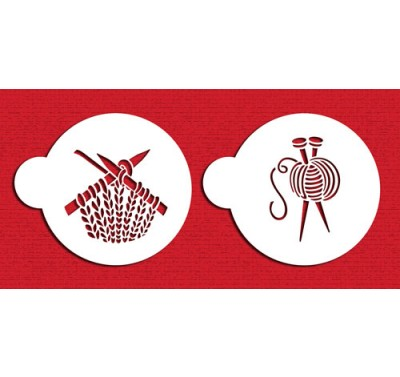 Designer Stencils Knitting Cookie Set