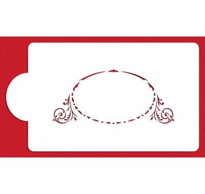Designer Stencils Large Monogram Oval