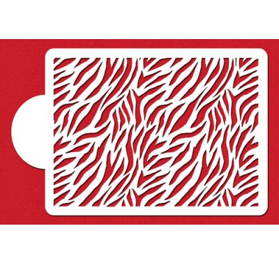 Designer Stencils 1/4 Sheet Zebra Print