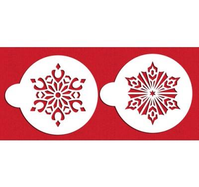 Designer Stencils Large Crystal Snowflakes #4