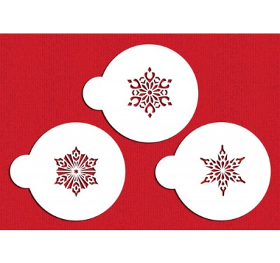 Designer Stencils Small Crystal Snowflakes #2