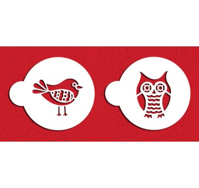Designer Stencils Retro Owl and Bird