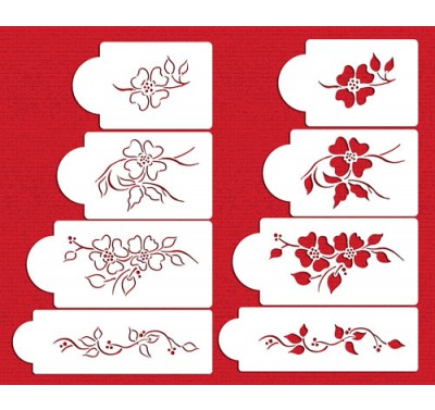 Designer Stencils Multi-Layer Dogwood Set
