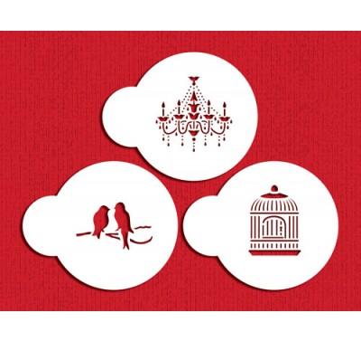 Designer Stencils Mini Love Birds / Chandelier Set