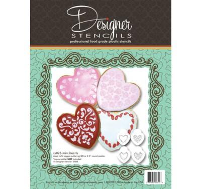 Designer Stencils Mini Hearts Cookie set