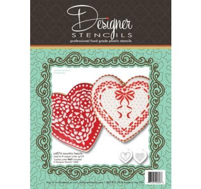 Designer Stencils Country Hearts