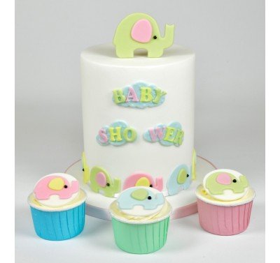 FMM Mummy and Baby Elephant Set/4