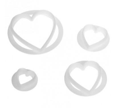 FMM Heart Cutters Set of 4