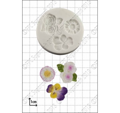 FPC 'Viola, Roses & Daisy' Silicone Mould