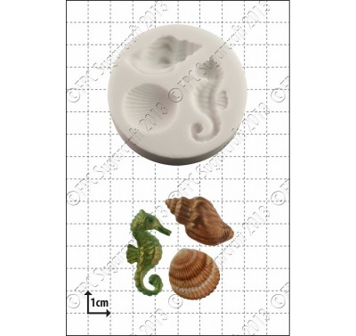 FPC Seahorse & shells Silicone Mould