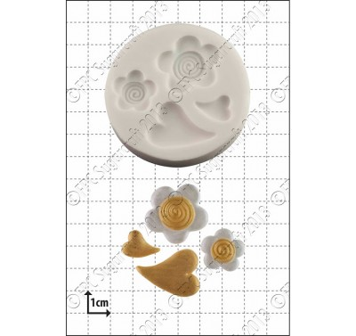 FPC Hearts and Flowers Silicone Mould